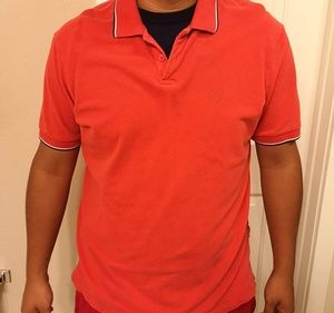 Armani exchange men's polo shirt orange mens XXL